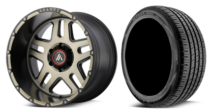 "Picture of 20"" Asanti Enforcer Wheel + Nexen RU5 Road Tyre Combo"